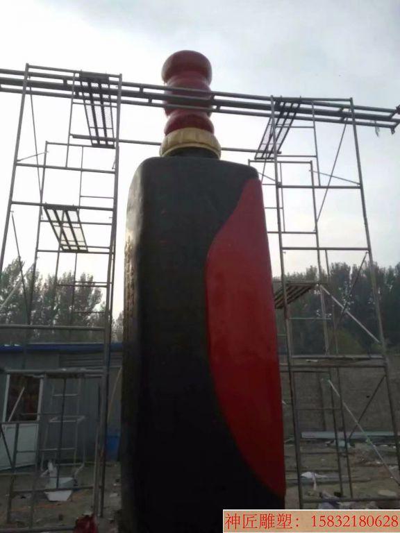 玻璃钢大型酒瓶雕塑,酒厂仿真酒瓶雕塑定制6