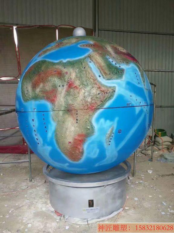 玻璃钢地球仪雕塑2