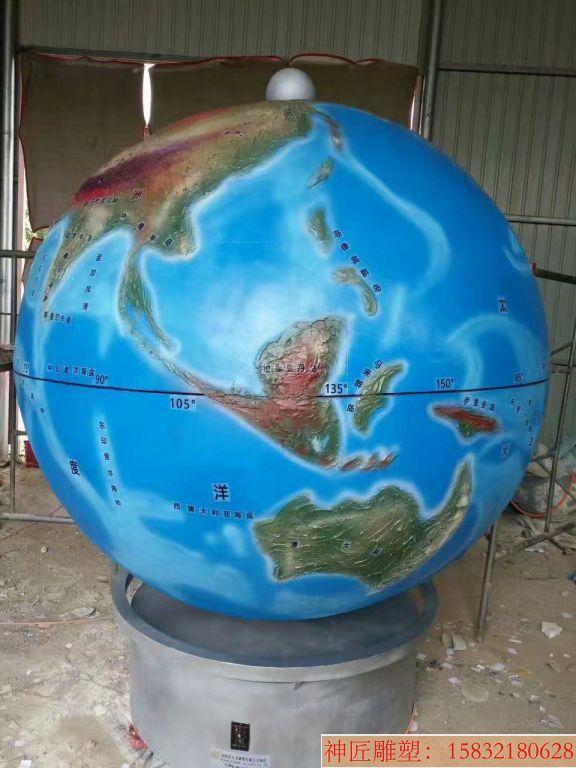 玻璃钢地球仪雕塑1