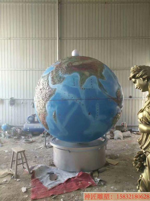玻璃钢地球仪雕塑4