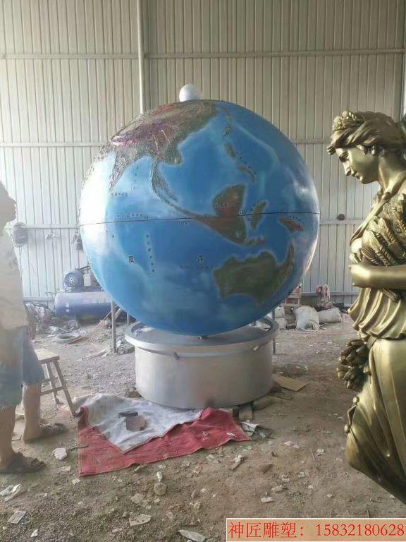 玻璃钢地球仪雕塑3