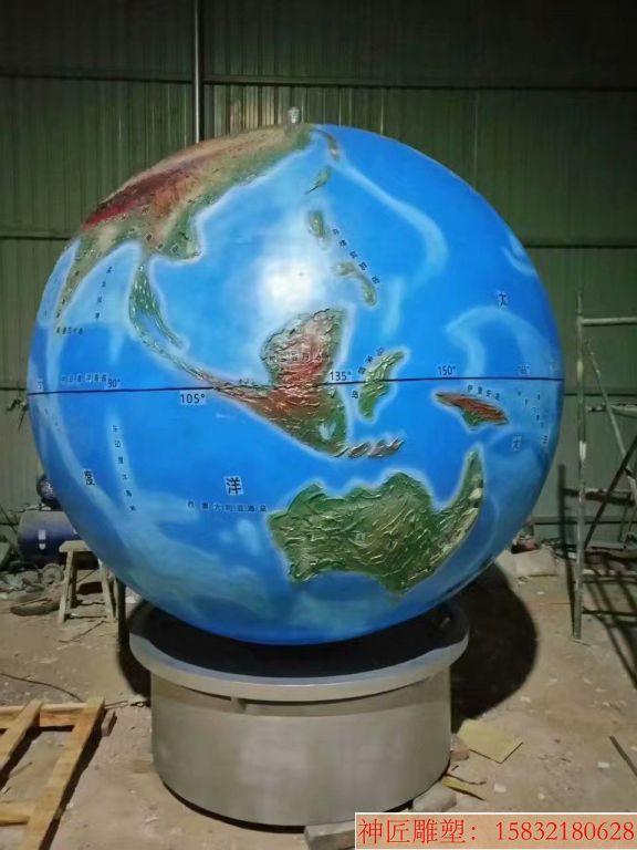 玻璃钢地球仪雕塑7