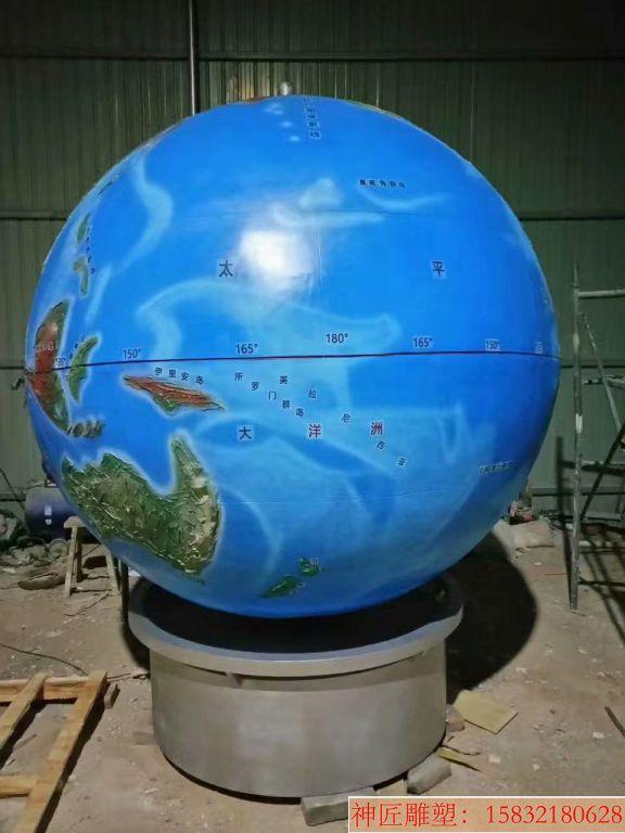 玻璃钢地球仪雕塑6