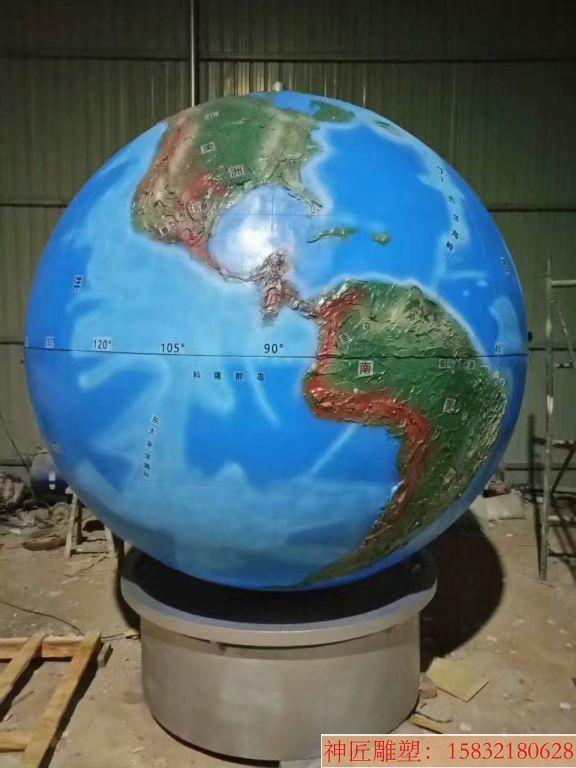 玻璃钢地球仪雕塑5