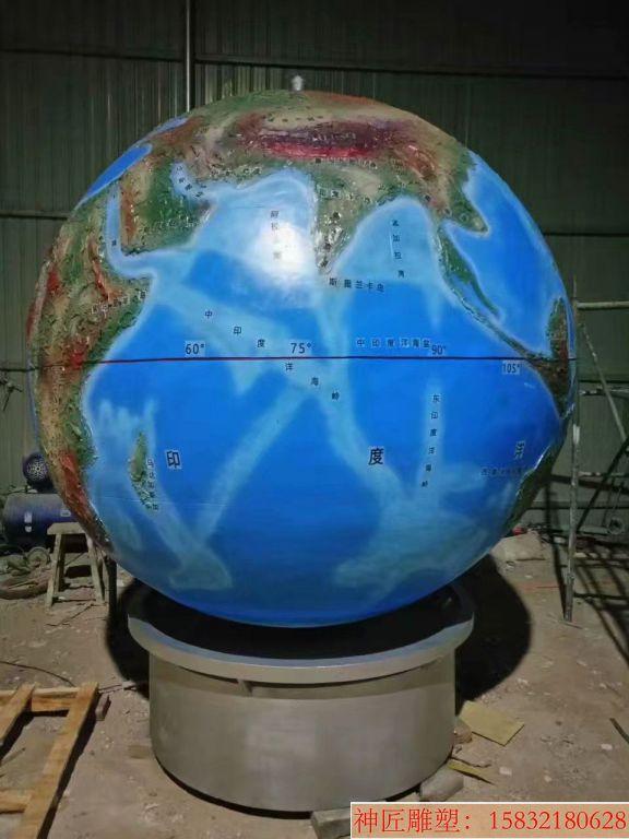 玻璃钢地球仪雕塑8